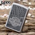 【詮國】Zippo 美系經典打火機 - Harley Davidson 哈雷 - 皮革紋霧銀拉絲面 / NO.28084 / ZP532