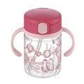 【紫貝殼●限量出清】『DCB01-1』日本《Richell-利其爾》(新)LC兒童戶外吸管水杯-第二代喝水杯吸管學習杯200ml 桃紅