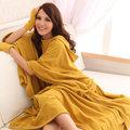 發熱懶人毯(超人毯) 3M 貴氣黃 有效升溫 MCM生活館-機能 保暖毯 毛毯 沙發毯 發熱衣 蓄熱毯 批發