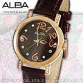 CASIO手錶專賣店 國隆 ALBA精工 雅柏手錶 AG8446X1 施華洛世奇 皮革 不鏽鋼錶框 女錶 全新品 保固一年 開發票