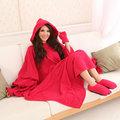 發熱懶人毯(超人毯) 3M 玫瑰紅 有效升溫 MCM生活館-機能 保暖毯 毛毯 沙發毯 發熱衣 蓄熱毯 批發