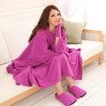 發熱懶人毯(超人毯) 3M 羅蘭紫 有效升溫 MCM生活館 機能 保暖毯 毛毯 沙發毯 發熱衣 蓄熱毯 批發