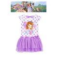 出口美國SOIFA 蘇菲亞紫愛心背後有蝴蝶結短袖紗裙洋裝(95、140CM適用)官網同步