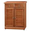 《Homelike》鄉村風樟木2.7尺鞋櫃 置物櫃 收納櫃 玄關櫃 邊櫃 實木櫃