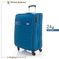 Kinloch Anderson 金安德森 行李箱 KA154202BL 藍色 24吋 經典格紋旅行箱 MyBag得意時袋