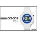 【時間道】adidas。錶三線圓黑面電子腕錶 – 藍內框白膠(小) (ADP3151)免運費