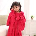 發熱懶人毯(超人毯) 小孩款 3M 玫瑰紅 有效升溫 MCM生活館 機能 保暖毯 毛毯 沙發毯 發熱衣 蓄熱毯 批發