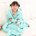發熱懶人毯(超人毯) 小孩款 3M 湖水綠 有效升溫 MCM生活館 機能 保暖毯 毛毯 沙發毯 發熱衣 蓄熱毯 批發