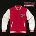 【WEEFSCOOL】MIT 潮流經典刷毛棒球外套 Classic 男 (紅)