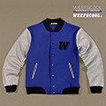 【WEEFSCOOL】MIT 潮流品味刷毛棒球外套 Dandy 男 (藍)