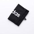 ★大包小包★ 入門必備配件【ADIDAS】繽紛運動束帶兩折短夾(黑色) AJ9977