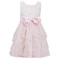 ★MerryGoAround★ Bonnie Jean Spring: Dress: 短袖連身裙洋裝: 粉蝴蝶結雪紗: BJ-4447