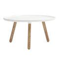 丹麥 Normann Copenhagen Tablo Table Large 迴旋 圓桌 / 茶几 大尺寸(白色/原木色桌腳)