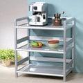 《Homelike》鋁合金2.5尺三層置物架 置物櫃 收納櫃 廚房收納 免組裝免運費