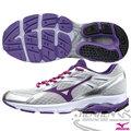 MIZUNO 美津濃 女 支撐型慢跑鞋WAVE ADVANCE 2(銀*紫) 中低足弓入門款