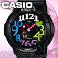 CASIO 時計屋 卡西歐手錶 BABY-G BGA-131-1B2 女錶 雙線錶 黑 耐衝擊構造 整點報時