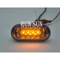 ●○RUN SUN 車燈,車材○● FORD 福特 05 06 07 08 FOCUS 福克斯 MK2 LED 雙色 淡黑 透明殼 側燈