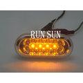 ●○RUN SUN 車燈,車材○● FORD 福特 05 06 07 08 FOCUS 福克斯 MK2 LED 雙色 透明殼 電鍍 側燈