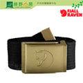 《綠野山房》Fjallraven 瑞典 Canvas Brass Belt 4cm 帆布皮帶 休閒腰帶 金屬釦腰帶 黑色 77297-550