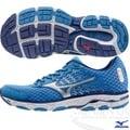 MIZUNO 美津濃 WAVE INSPIRE 11 男慢跑鞋(藍*白*銀) 2015年新款發燒貨