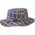 [ Mont-Bell ] 快乾圓盤帽/Wickron格紋透氣遮陽帽/登山帽 1118174 RDBR 磚紅