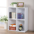 《Homelike》現代風二層四格置物櫃 書櫃 展示櫃 收納櫃 組合櫃