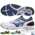 MIZUNO美津濃 男路跑鞋WAVE SPACER DYNA 2(白*黑*藍) 高抓地力,接地時間短,追求速度感