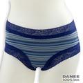 岱妮蠶絲 - (HA0019A) 女純蠶絲低腰無痕平口蠶絲內褲 (深藍92/9F)
