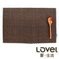 LOVEL 歐美風手作編織感餐墊-摩卡方格(1入組)