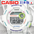 CASIO 時計屋 卡西歐手錶 Baby-G BGD-180FB-7 JF 日版 白 潮汐圖 衝浪 女錶 全新 保固