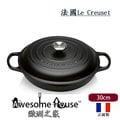 法國Le Creuset 新式signature 鑄鐵鍋 30cm 壽喜鍋-黑色 #21180300000430