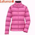 丹大戶外【Lafuma】法國LD D-Idaho Zip女性輕薄刷毛條紋配色保暖外套/伊達荷夾克 LFV8451 粉紅色