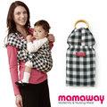 mamaway 媽媽餵 育兒/哺乳揹巾-金門(黑白格)
