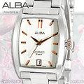 CASIO手錶專賣店 國隆 ALBA精工 AG8461X1 日期 方形 不鏽鋼女錶 全新品 保固一年 開發票