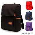Free Shop【QTJXY033】日韓風格多功能大容量側邊置物袋設計魔鬼氈掀蓋式電腦包後背包‧四色