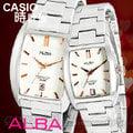 CASIO 時計屋 SEIKO ALBA手錶 AS9785X1+AG8461X1 方型 不鏽鋼對錶 全新 保固附發票