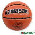 【日本 KAWASAKI】基礎投籃系列 7號深溝籃球(好抓握 訓練球感) / 適合室外場地及休閒運動使用.抓球容易.手感佳 非SPALDING /橘 KB420