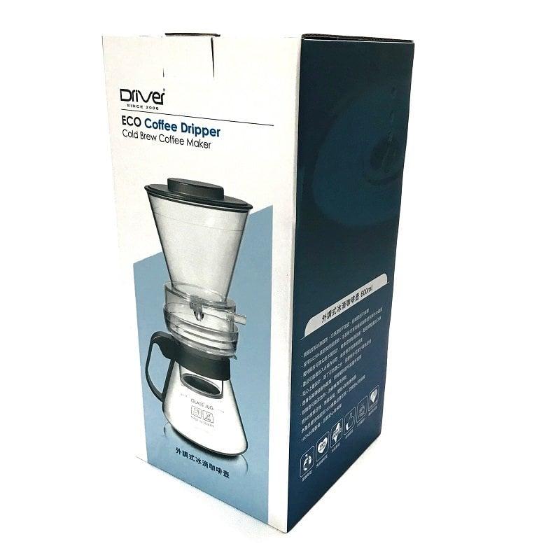 《3557》【加碼送海棉刷+豆匙+濾紙】Driver ECO冰滴咖啡壺組600ml ㊣304不鏽鋼濾網 濾杯 耐熱玻璃咖啡壺 調整流速開關