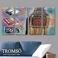 ☆大樹小屋☆【H0309220】瑞典TROMSO時尚無框畫-W150鐘塔印象/ 英倫 相框 裝飾畫 空間