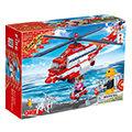 【BanBao邦寶積木楚崴】消防系列 8315直升機(與樂高Lego相容)