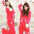 暖暖甜心!絲絨二件式連帽休閒服(紅)【AB20007】