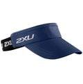 2XU Performance Visor 跑步中空帽 深藍