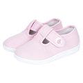 【HELLA 媽咪寶貝】英國 JoJo Maman BeBe 嬰幼兒童帆布鞋/休閒鞋 淡粉(JJCV1-003)