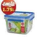 【德國EMSA】專利上蓋無縫3D保鮮盒德國原裝進口-PP材質(保固30年)(1.75L)