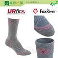 《綠野山房》Fox River 美國製 UR FIT 女款 史太芙 中統 羊毛 健行襪 登山 灰 2556-07094