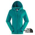 The North Face 女 LOGO 兜帽外套 連帽保暖外套 透氣 機能夾克 海島綠 CS56