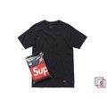 【Brand T】15FW Supreme Hanes Tee Box Logo / 黑色內搭素踢*單件販售 / FW15A23-01