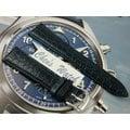 【其其精品屋】LIMA 義大利進口鱷魚皮紋真牛皮錶帶深藍色 20mm 收16mm 勞力士 Rolex 代用
