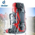 德國 Deuter Act lite 65+10L 輕量拔熱式透氣背包.健行登山背包.自助旅行背包/ 黑/紅 4340115