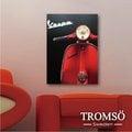 ☆大樹小屋☆【H0309247】瑞典TROMSO時尚無框畫-W177紅色偉士牌/ 機車 復古